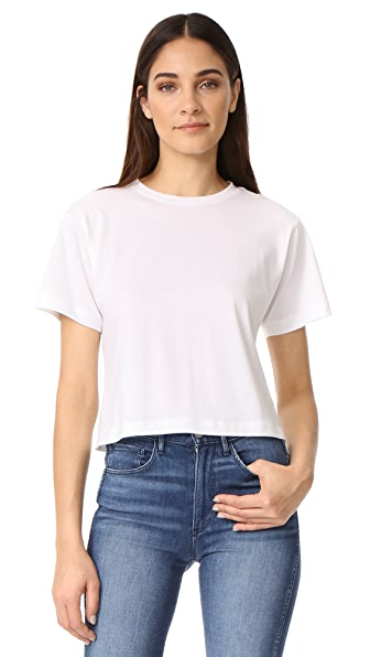 3x1 Cropped Boyfriend Tee In White