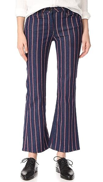 3x1 Tabby Crop Flare Jeans - Hayden Stripe