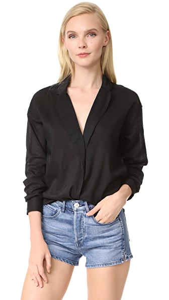 3x1 Moxy Wrap Shirt - Sable