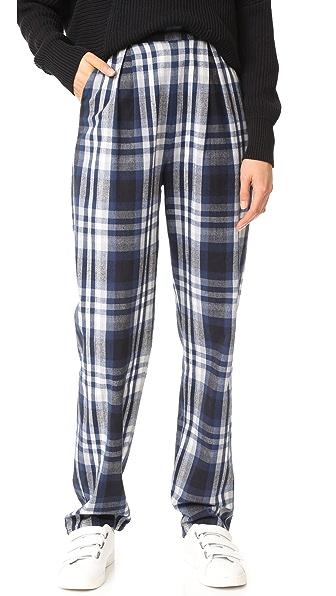 3x1 Pajama Pants In Blue & White Plaid