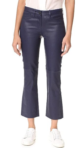 3x1 W2 Split Crop Bell Jeans - Sapphire Leather