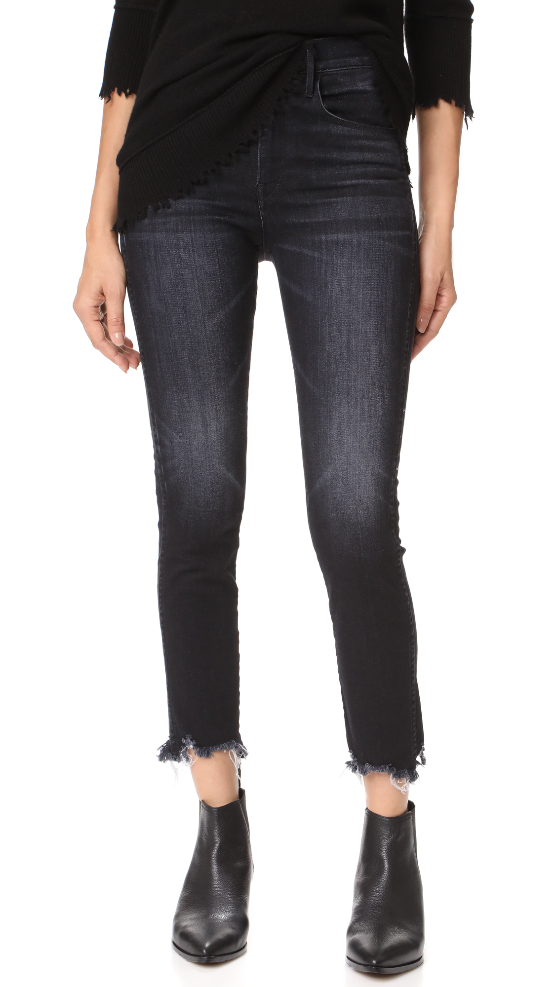 3x1 W3 Straight Authentic Crop Jeans - Shake