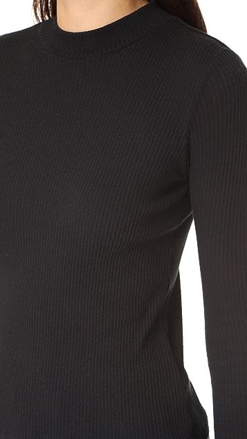 3x1 Mock Neck Rib Shirt
