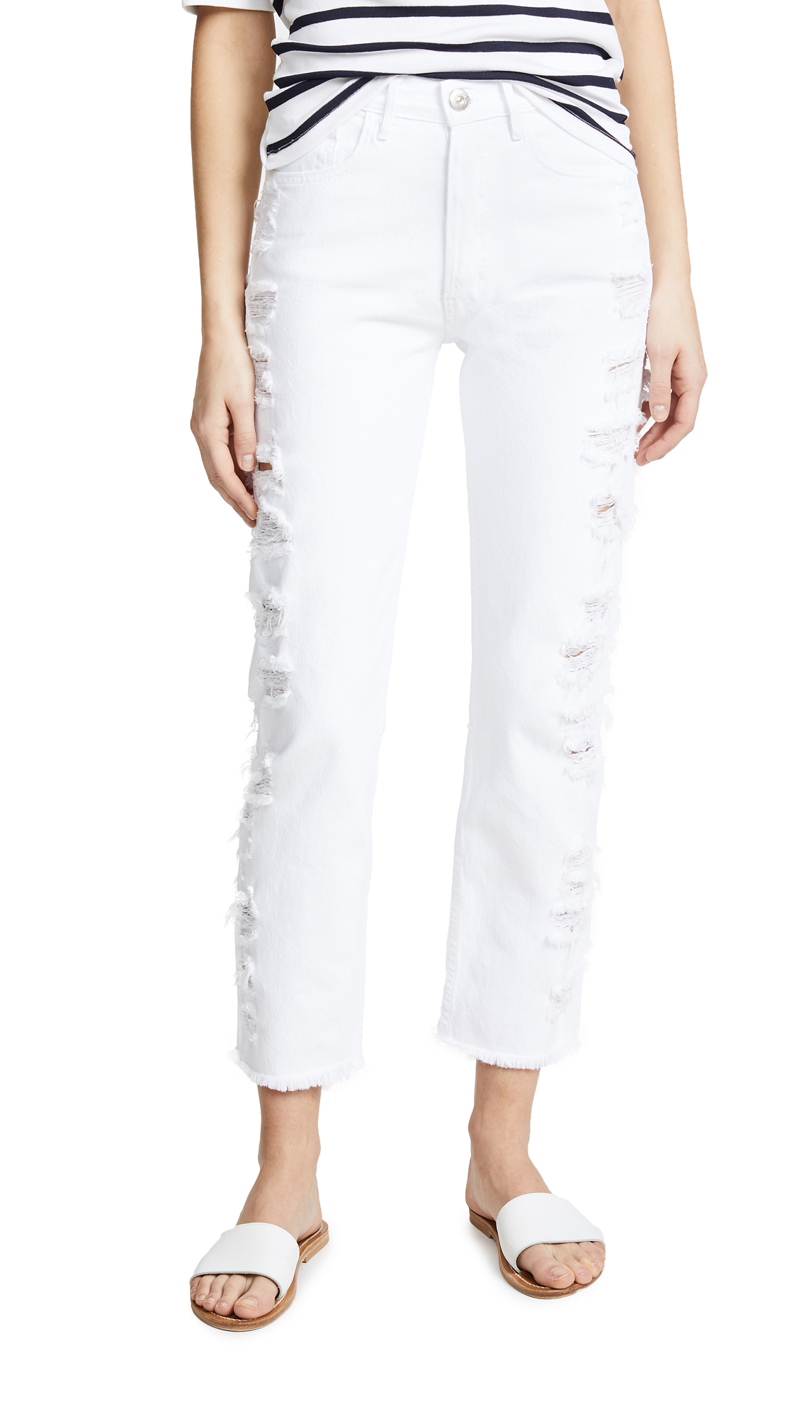 W3 Higher Ground  Cropped Jeans, Lace