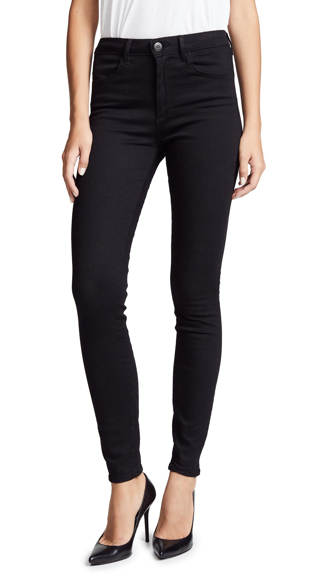 3x1 W3 Channel Seam Skinny Jeans - Black