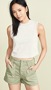 3x1 Cropped Muscle T-Shirt