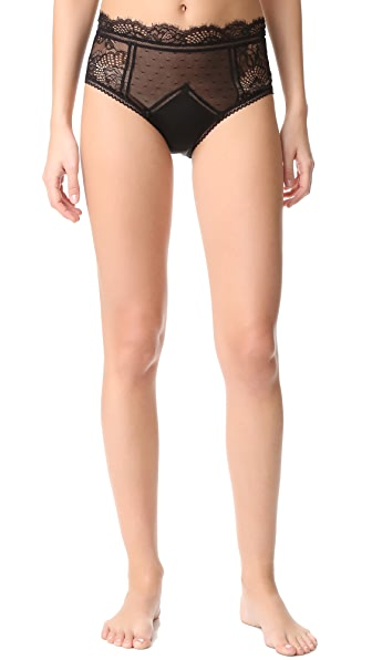 Thistle & Spire Amore High Waisted Briefs - Black