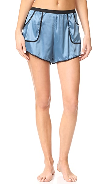 Thistle & Spire Devoe Satin Shorts - Blue
