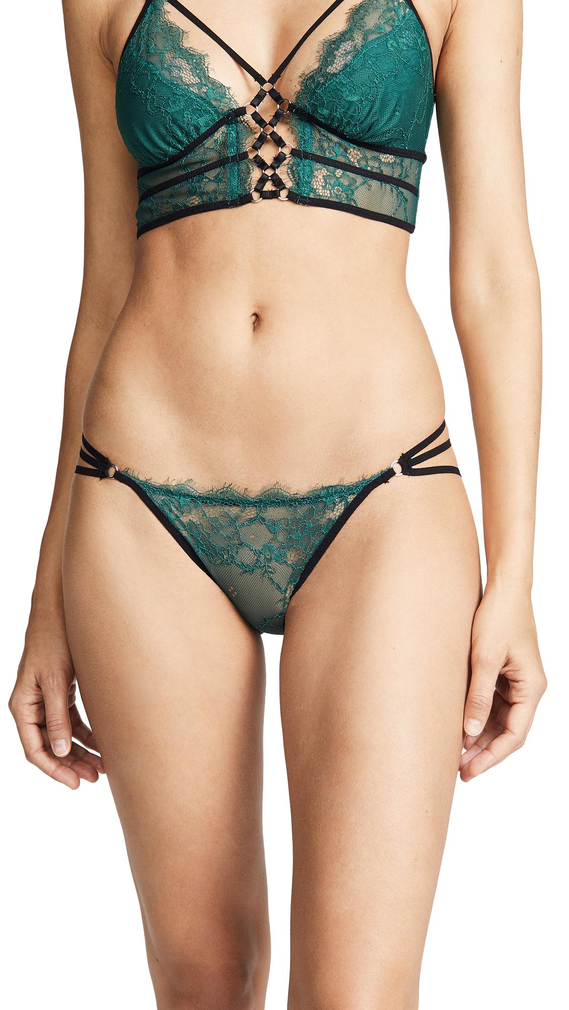 Thistle & Spire Constellation Bikini Briefs In Emerald