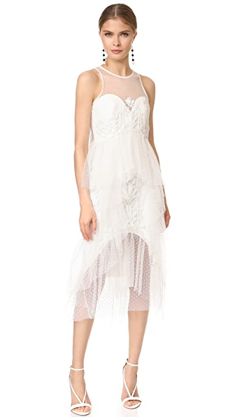 THURLEY Nymph Dress In Ivory