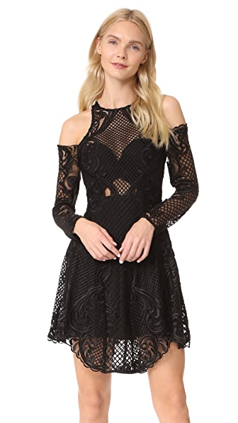 THURLEY Scarborough Fair Mini Dress In Black