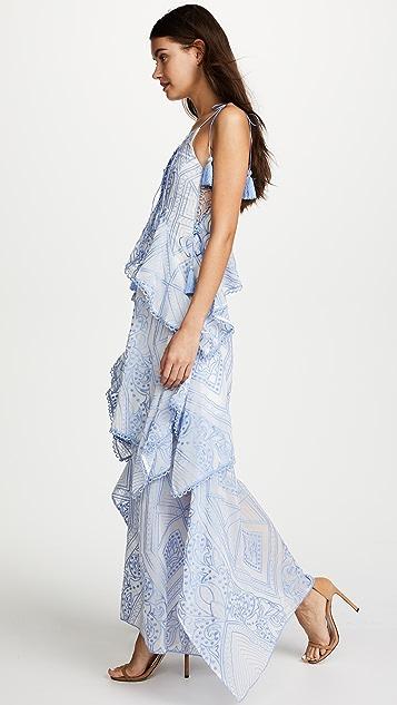 THURLEY Positano Princess Maxi Dress