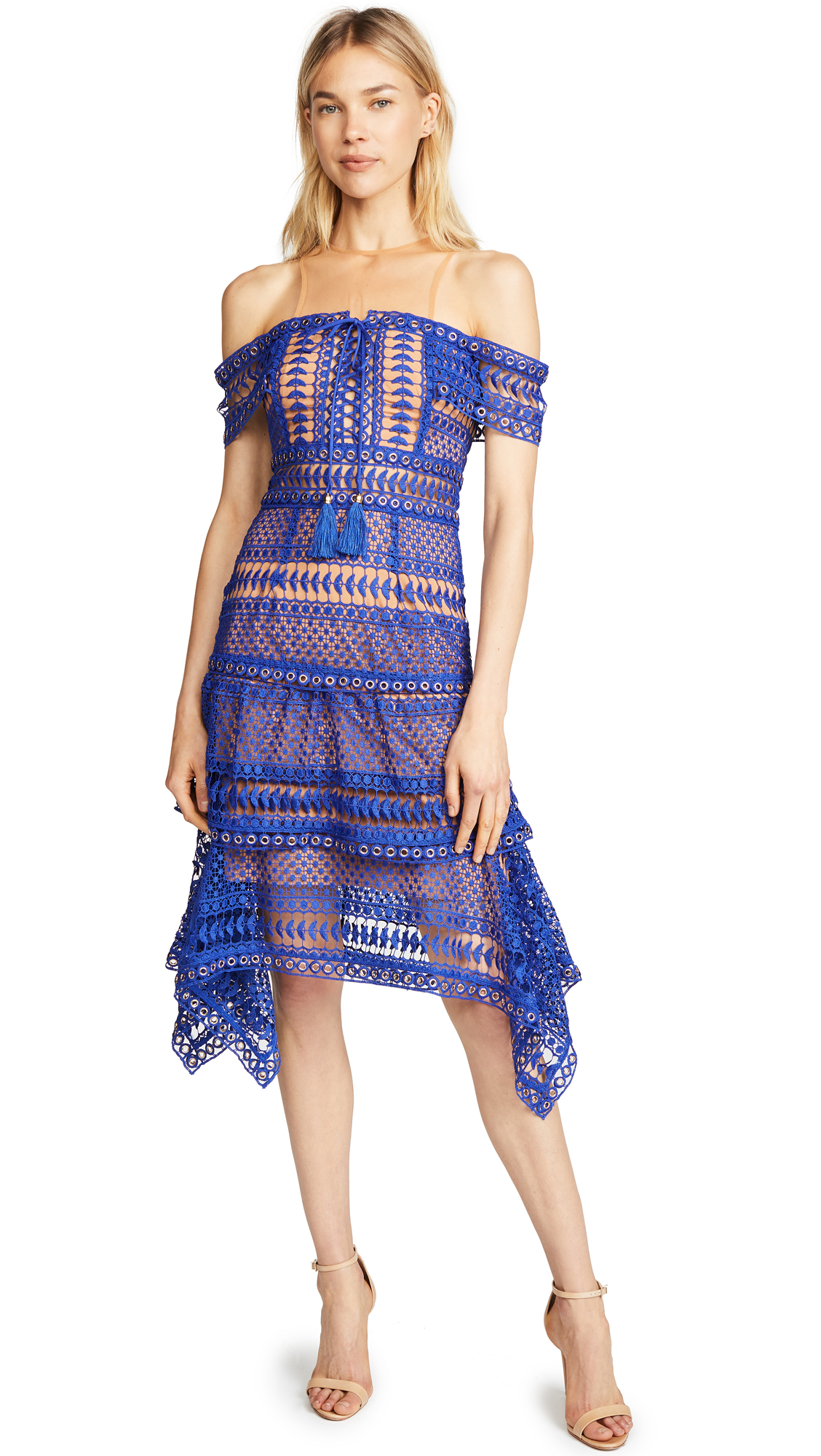 THURLEY Skyfall Dress in Royal Blue
