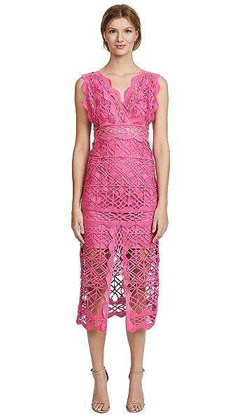THURLEY Coney Island Lace Midi Dress