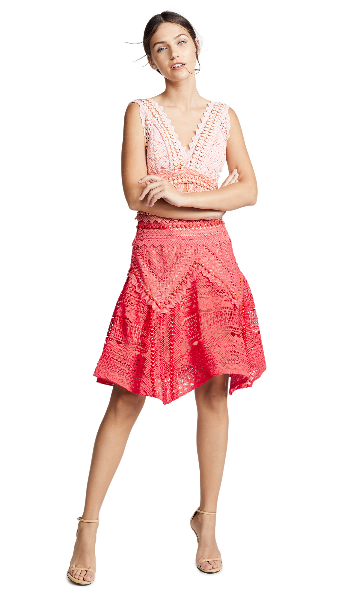 THURLEY Bahamas Dress - Red Ombre