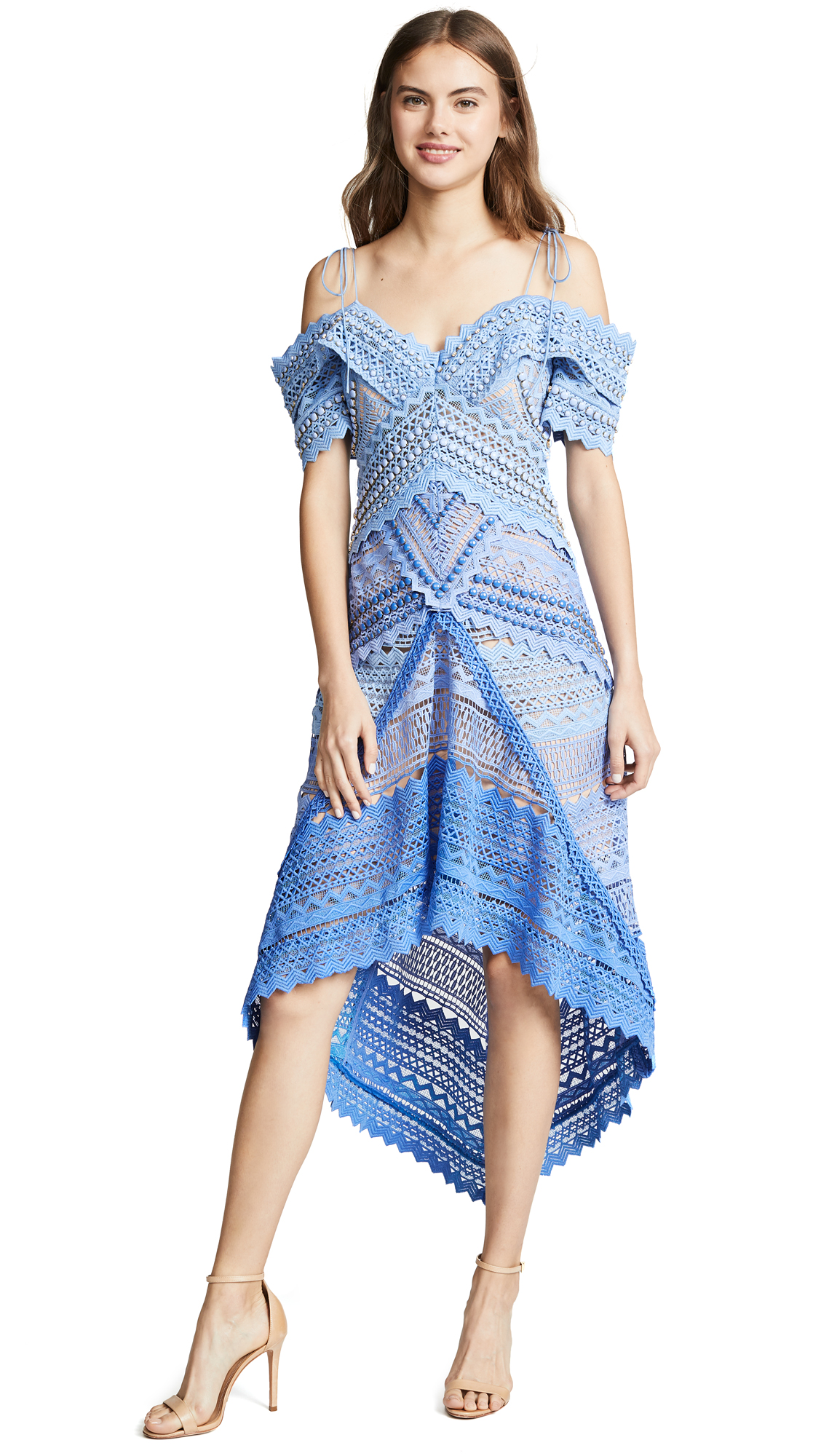 THURLEY Santorini Dress in Blue Ombre
