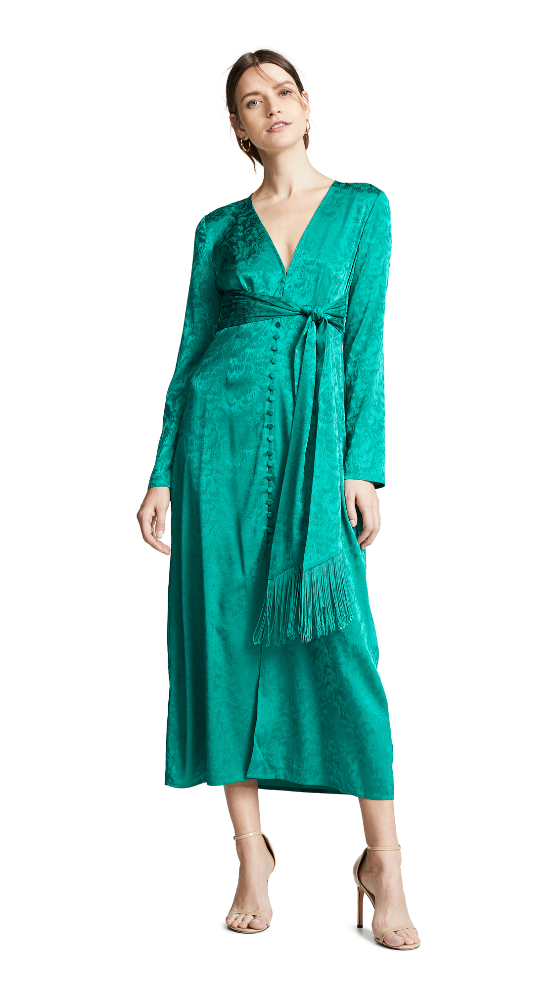 THURLEY Violeta Dress - Emerald