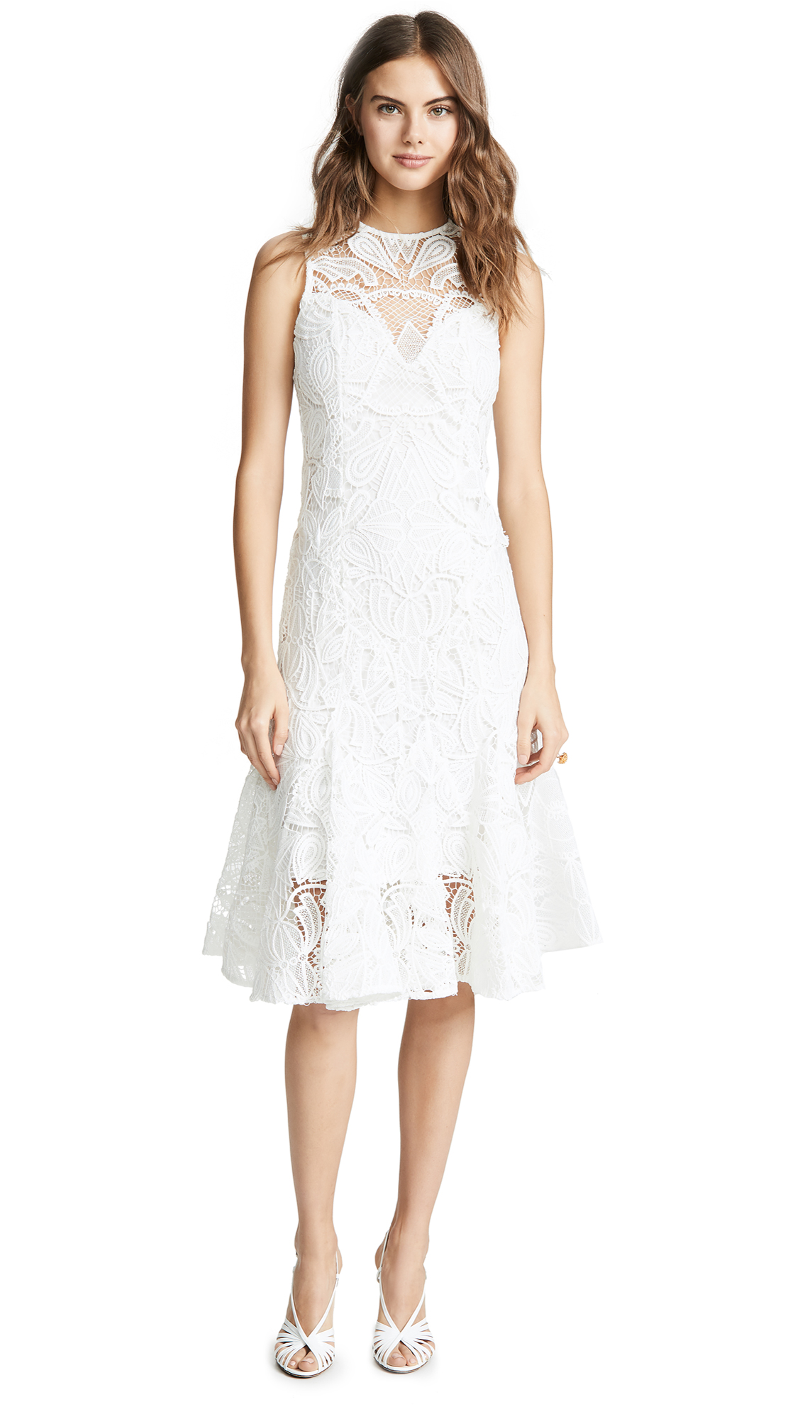 THURLEY Biarritz Dress in Ivory
