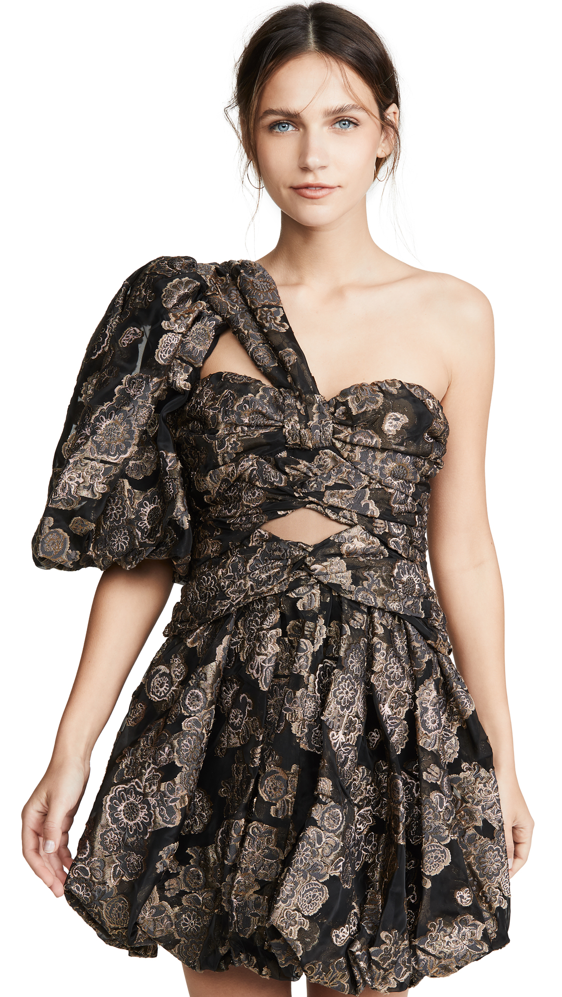 Buy THURLEY online - photo of THURLEY Jacquard Lantern Dress