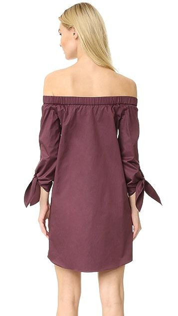 Tibi Off Shoulder Tie Sleeve Dress