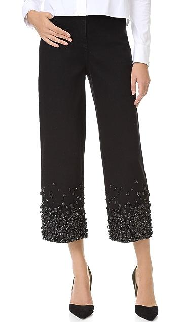 Tibi High Waist Embellished Jeans