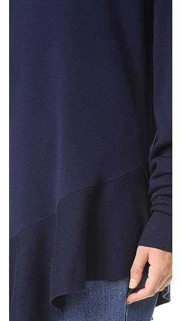 Tibi Flare Hem Tunic Pullover