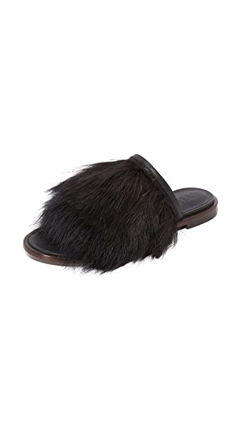 Tibi Jack Feather Slides