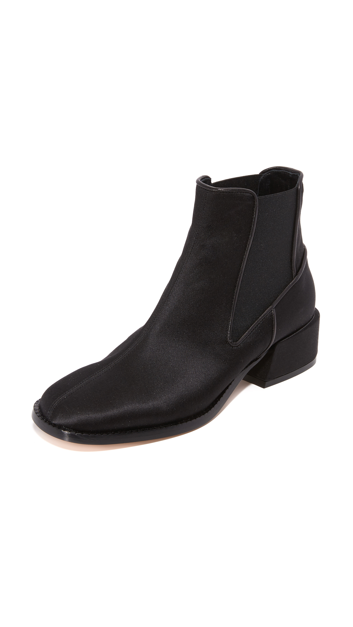 Tibi Ava Booties - Black