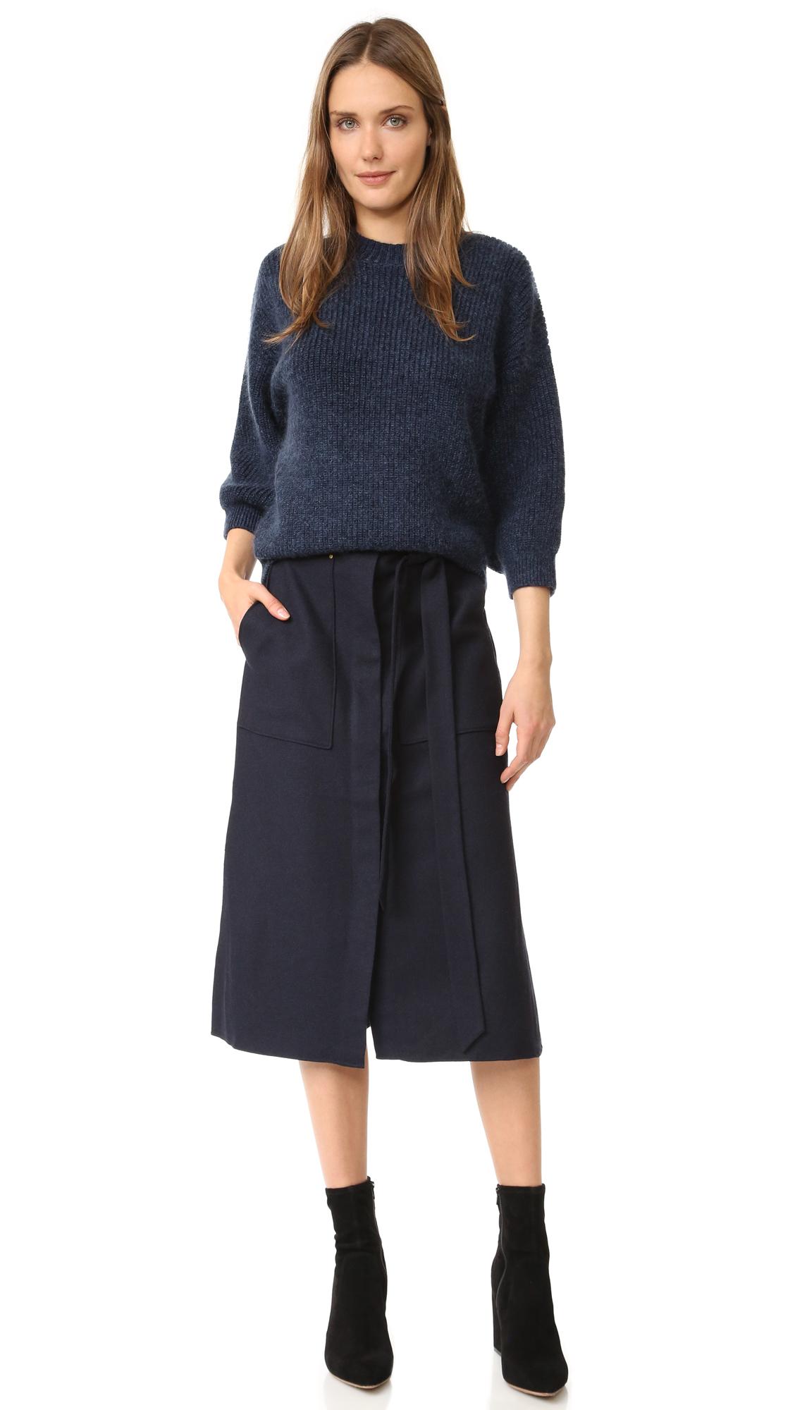 83f1fcb63 Tibi Owen A-Line Twill Skirt | SHOPBOP