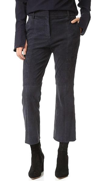 Tibi Замшевые укороченные брюки Alain