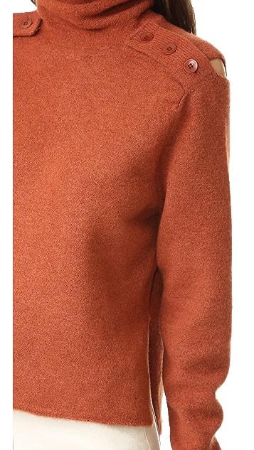 Tibi Boiled Funnel Neck Pullover