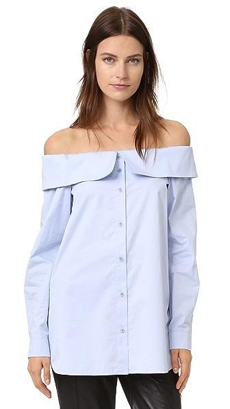 Tibi Off the Shoulder Shirt