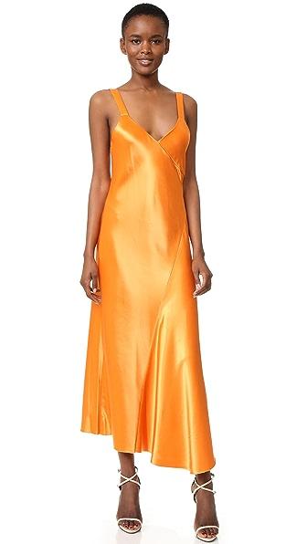 Tibi Amoret Dress In Marmalade
