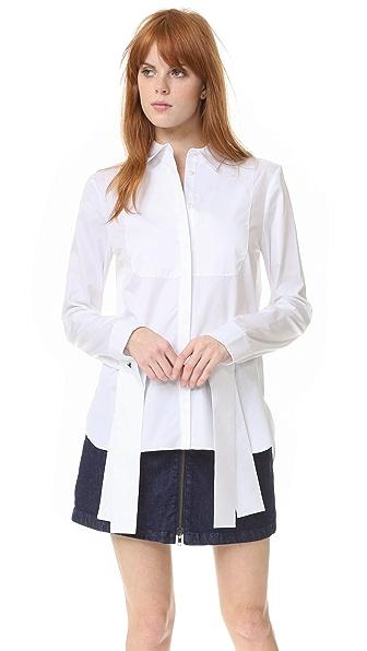 Tibi Tuxedo Shirt - White