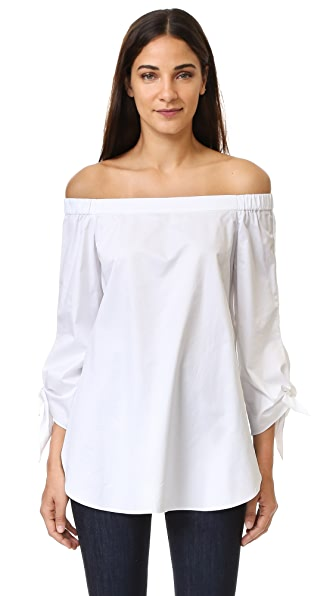 Tibi Off Shoulder Tunic - White