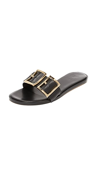 Tibi Frida Slides - Black