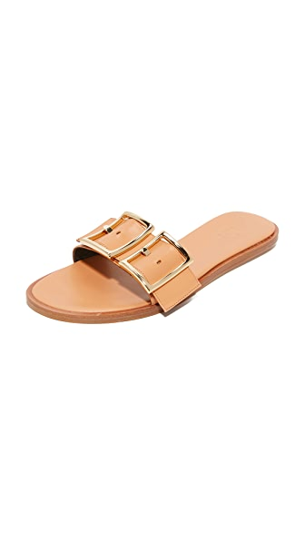 Tibi Frida Slides - Tea Rose