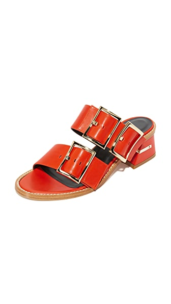 Tibi Kari Sandals - Ribbon Red