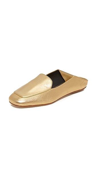 Tibi Cecil Mules - Metallic Gold
