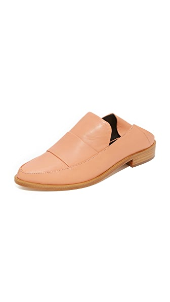 Tibi Darla Mule Loafers - Tea Rose