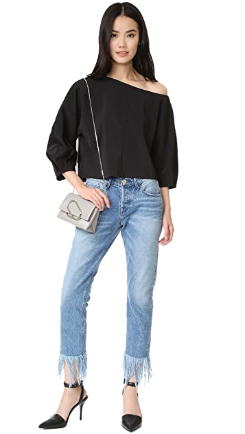Tibi Sculpted One Shoulder Top