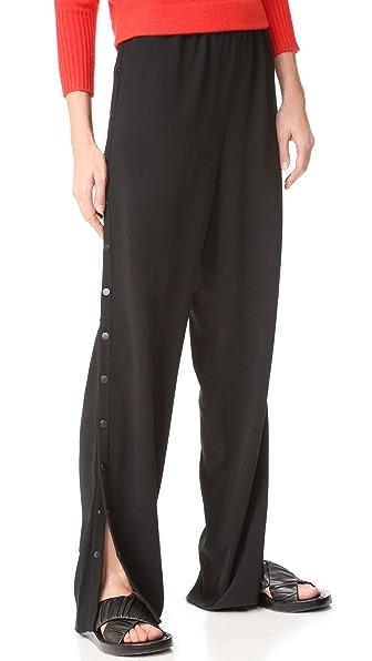 Tibi Pull On Side Snap Pants