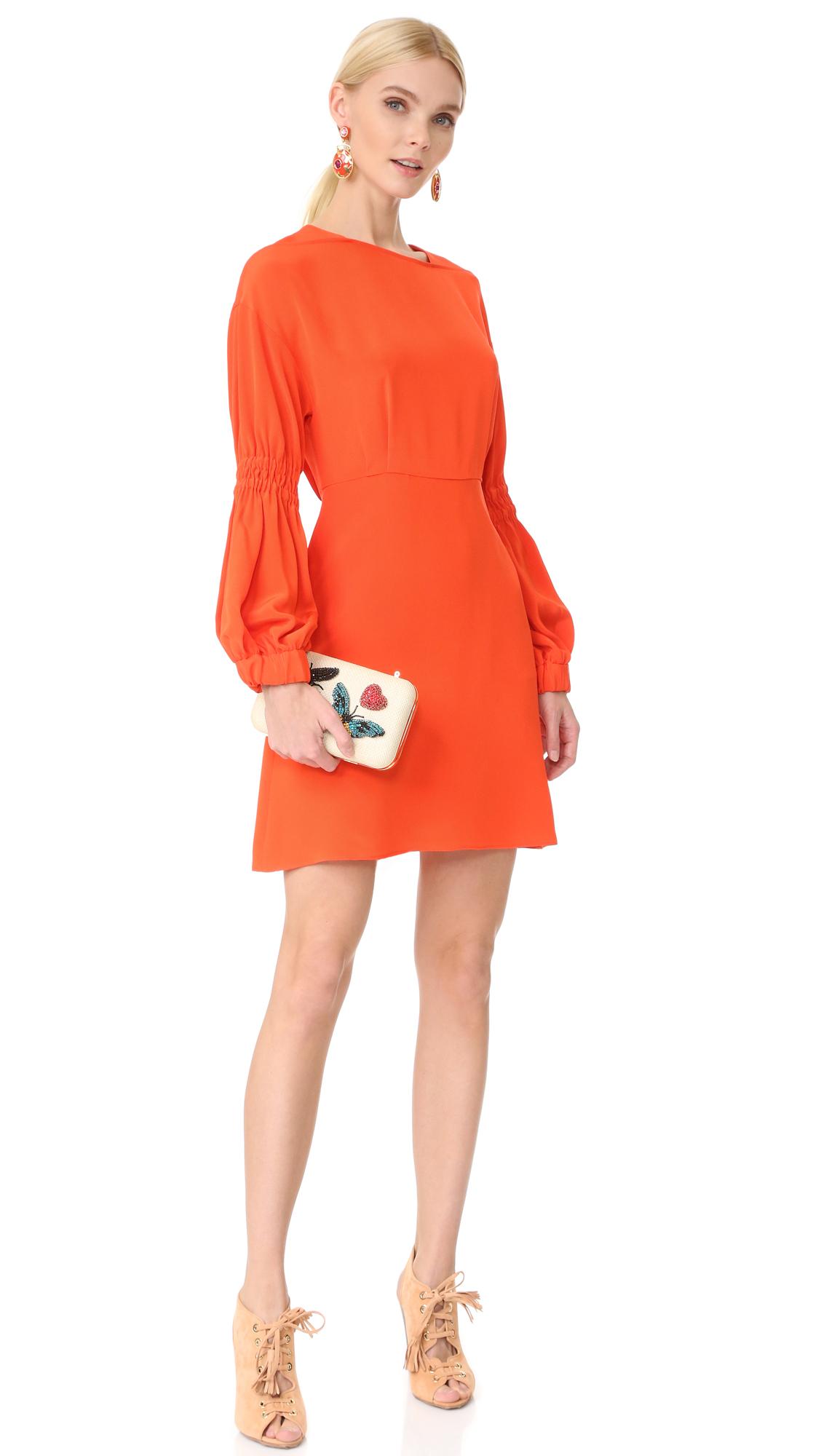 d3236ecc9b0a Tibi Balloon Sleeve Short Dress | SHOPBOP