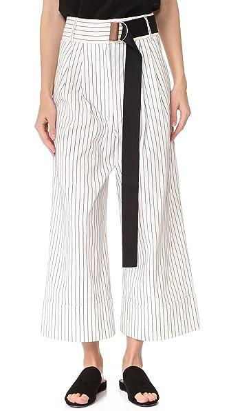 Tibi Cecil Striped Cropped Pants