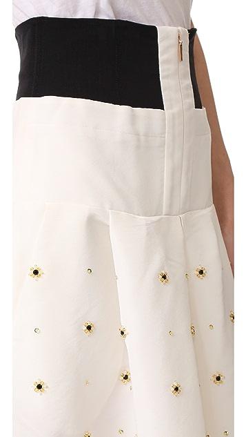 Tibi Charlotte Beaded Full Skirt
