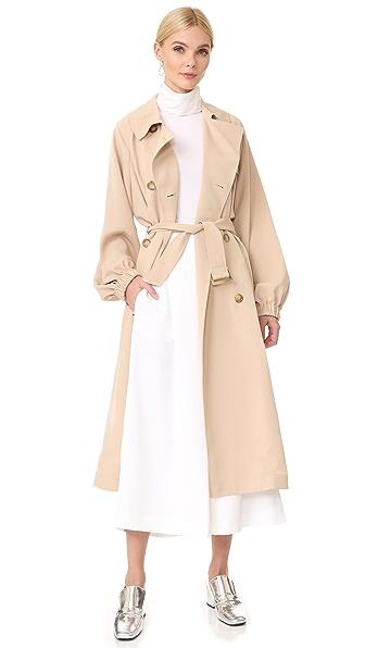 Tibi Twill Trench Coat