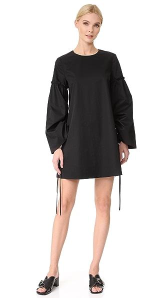 Tibi Satin Poplin Trapeze Dress