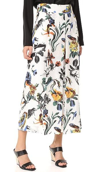 Tibi Брюки Nerd с цветочным принтом в готическом стиле