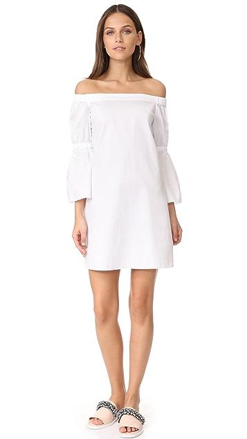 Tibi Poplin Lantern Sleeve Dress