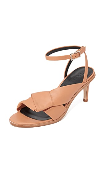 Tibi Abigal Oragami Sandals - Tearose